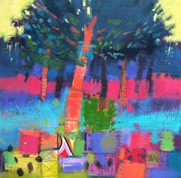 Francis Boag, Ury Trees, Mixed Media | Scottish Contemporary Art