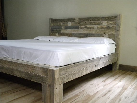 Platform Bed, Platform, Beds, Bed Frame, Reclaimed Wood, Rustic, Furniture,  Bedroom Decor, Bedroom Furniture, Home Decor, Wood Bed Frame - Best 25+ Reclaimed Wood Beds Ideas On Pinterest Reclaimed Wood