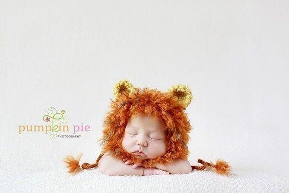 Free Crochet Pattern For Lion Hat : PDF Crochet Pattern/Tutorial-Baby Lion Hat Too cute, Hat ...