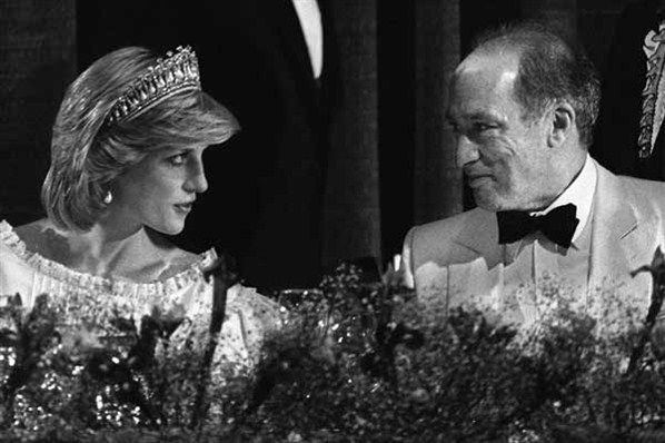 Prime Minister Pierre Trudeau chats with Princess Diana (Andy Clark/The Canadian Press)