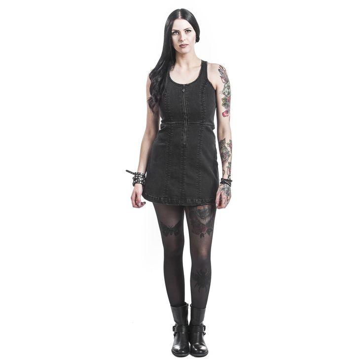Rock Rebel by EMP Kort klänning »Racerback Jeans Dress« | Köp i Sweden Rock Shop | Mer kåda Korta klänningar finns online ✓ Oslagbara priser!