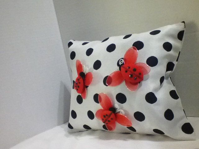 Ladybug Pillow,Small Pillow,Decorative Pillow by SCfashioncreations on Etsy