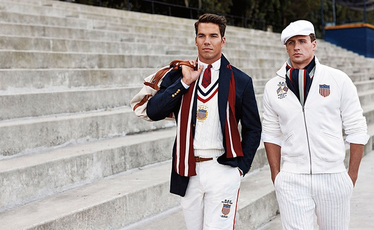 Olympic kit designs: US Olympic athletes wear the 2012 US Olympic team uniforms by Ralph Lauren
