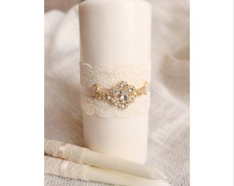 De la unidad definir oro Cruz vela conjunto boda por BrilliantBride