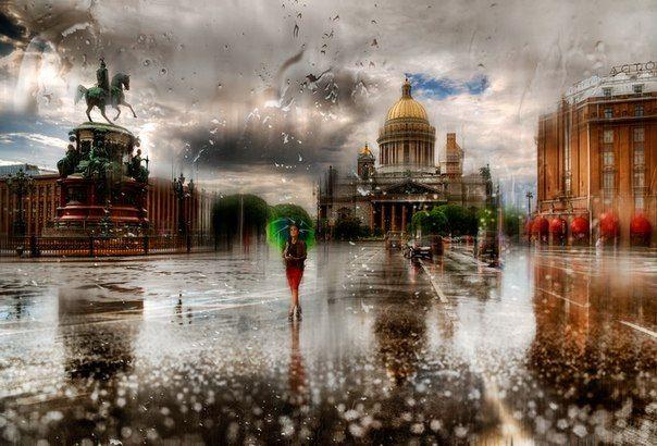 """Эдуард Гордеев, """"Дождливый Санкт-Петербург"""""""