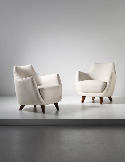 GIO PONTI Pair of armchairs, designed for the First Class Ballroom of the 'Augustus' transatlantic ocean liner, 1950
