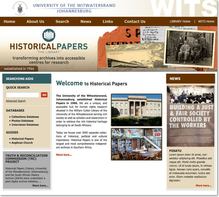 "Educational website design for Historical Papers ""The Library"", transforming archives into accessible centres for research"