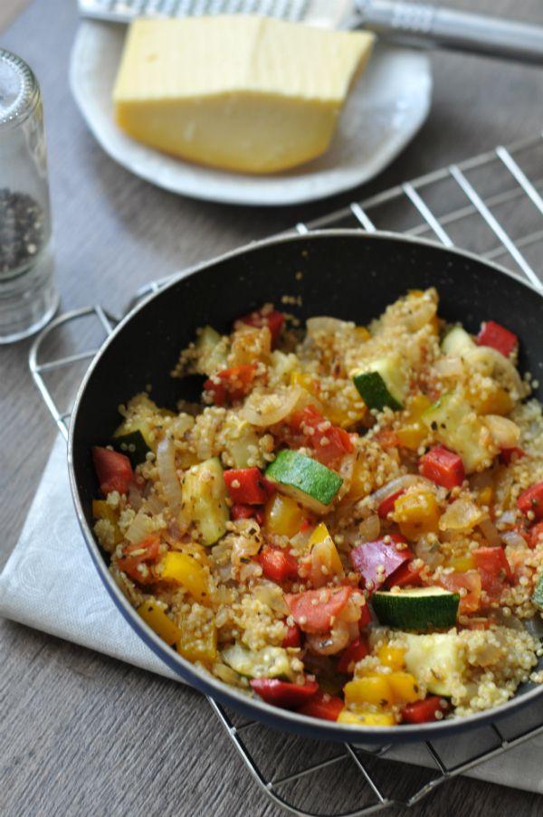 Quinoa a nyár zöldségeivel - gluténmentes vacsora