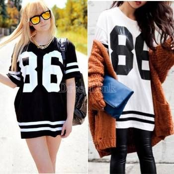 2014 New Retro Unisex HipHop Baggy Sportswear Baseball 86 Print T-Shirt Top Tee Women Men