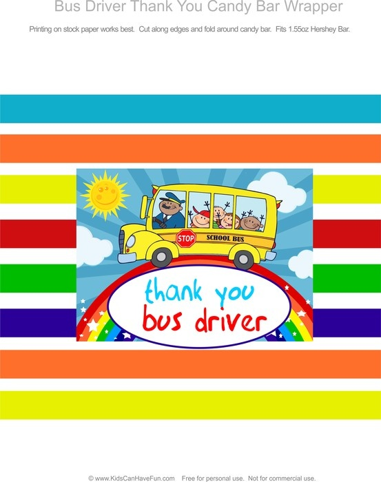 Letter For Student also School Bus Driver Thank You Candy Quotes ...