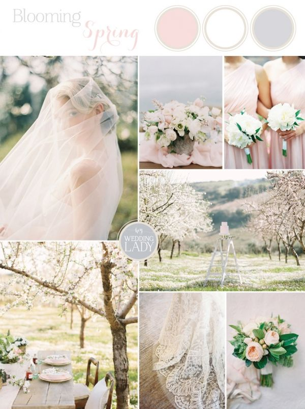 Blooming Orchard Spring Wedding Inspiration in Ethereal Blush and Gray - Designed for The Bride Link