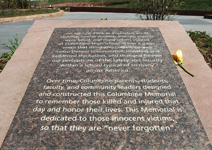 the tragedy the befalls columbine high school This was the 16th school shooting so far this year, according to a washington post analysis that's the highest number at this point in any year since 1999, the year of the columbine high school .