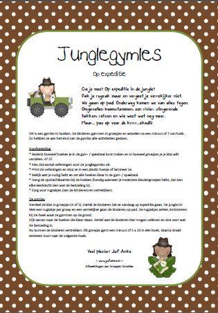 Ga je mee op expeditie? De jungle in! Gymles in hoeken - jufanke.nl