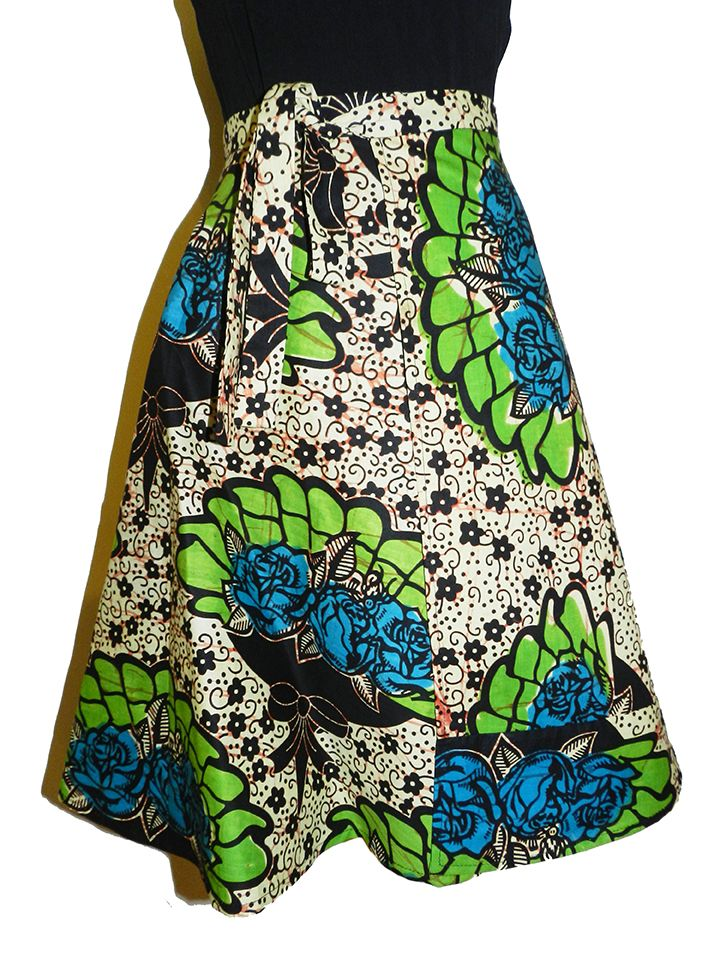 Full circle wrap skirt: Wrap with overlapping front panel. Overlaps from 20 to 30cm, depending on waist size. Fits waists between 65cm to 85cm. Length from waist to hem: 60cm approx. Tie-up strap on side. Waistband width 4 cm approx. 100% Cotton. Machine washable $35 each.