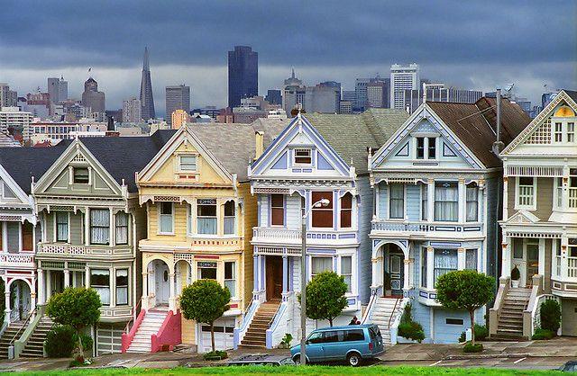 "Painted Ladies or ""The Seven Sisters"", Steiner Street, San Francisco"
