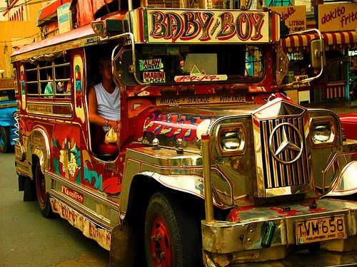 The Jeepney - Manila, Philippines  i intend to drag manfriend at the buttcrack  of dawn and ride this just to get some pan de sal