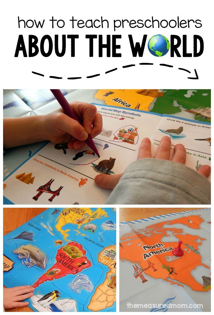 Fun activities for preschoolers learning about their world ...