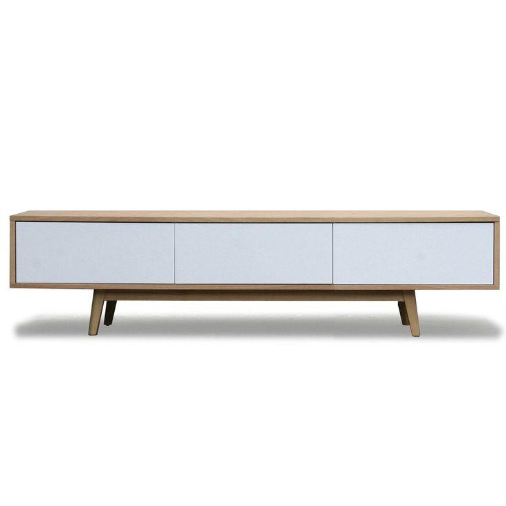 Vintage tv dressoir wit eiken   Design meubelen en de laatste woontrends