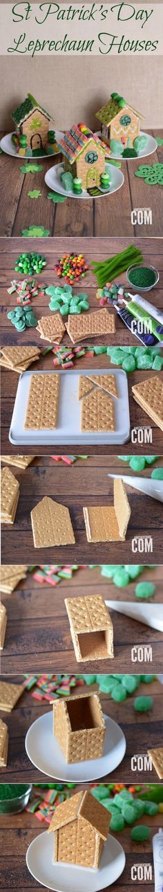 St Patrick's Day Leprechaun Houses - 17 Green-Attired St. Patrick's Day Party Food Ideas