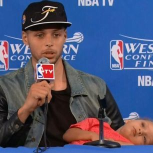 Golden State Warrior point guard Steph Curry has the cutest daughter and there's no point in even arguing about it