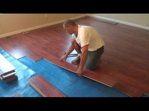How to install laminate flooring on stairs. - YouTube
