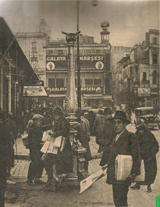 Newspaper sellers in Istanbul.