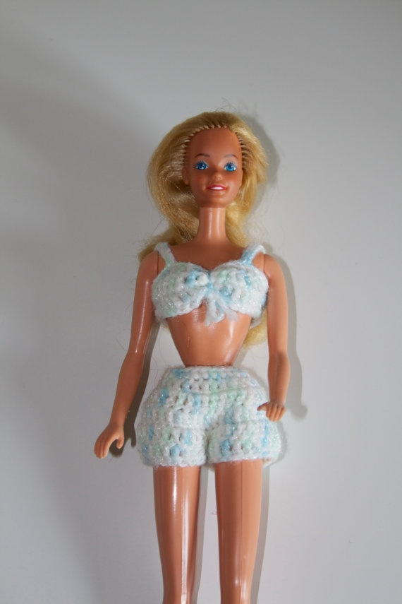 Knit Barbie Doll Swimsuit by LaneMcKenzie on Etsy, $8.00