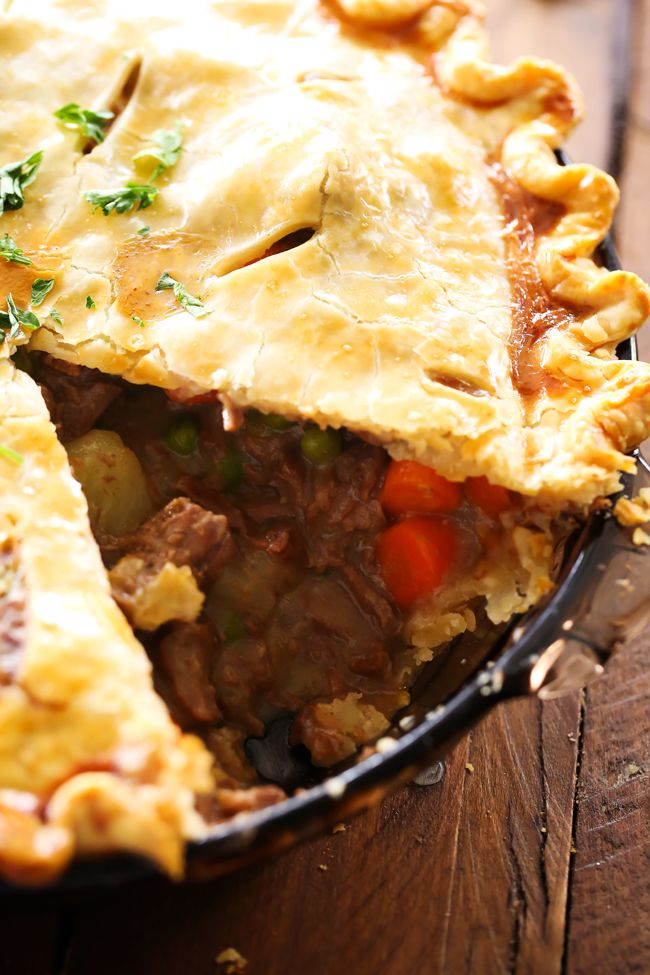 Beef Pot Pie... This is a delicious meal packed with flavor and tasty ingredients! This will quickly become a new family favorite!!