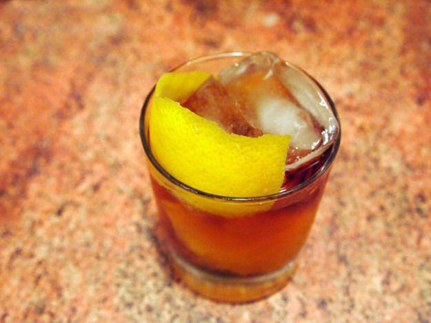 UPGRADED LYNCHBURG LIMONADE    ~1.5 oz Overproof Bourbon   ~.5 oz Creme de Peche (Peach Liqueur)  ~.5 oz fresh Lemon juice  ~.5 oz fresh Lime juice   ~.25 oz Rich Simple Syrup    ~1 dash Angostura Bitters    ~.75 oz Club Soda >Garnish: Lemon twist