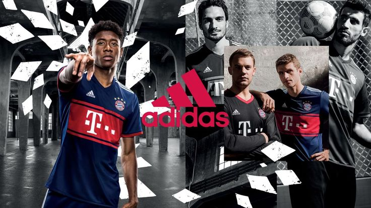 Camisa reserva do Bayern de Munique 2017-2018 Adidas