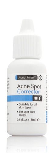 Anti-Acne Spot Applicator Acne Spot Corrector's high potency formula targets acne, promoting wound healing and anti-viral action, leaving skin clear and problem-free. 0.5oz/15ml Benefits •Contains Zinc Sulfate, an anti-bacterial ingredient. •Clears the inside cavity of pores. •Comes in a handy travel container for use anytime, anywhere.