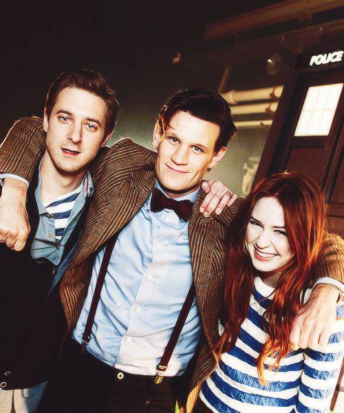Cast of Doctor Who- Matt Smith, Karen Gillan, Arthur Darvill