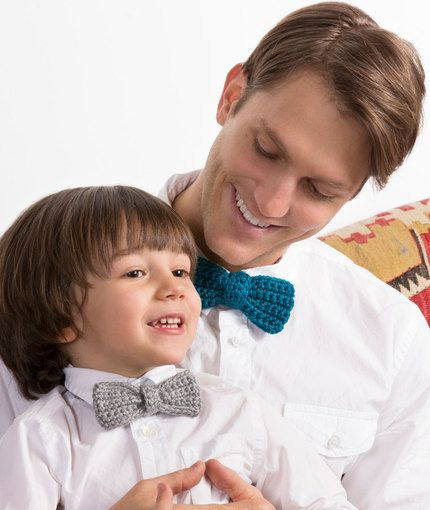 Bow Ties for the Guys Free Crochet Pattern from Red Heart Yarns