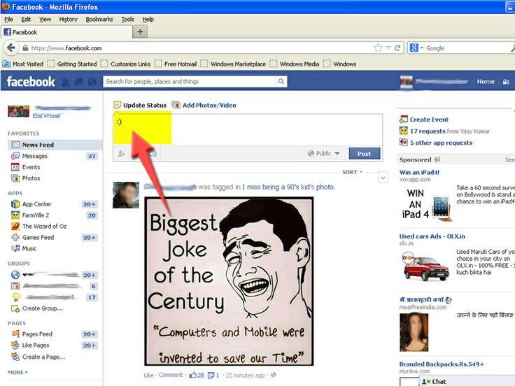 How to Make Emoticons on Facebook -- via wikiHow.com