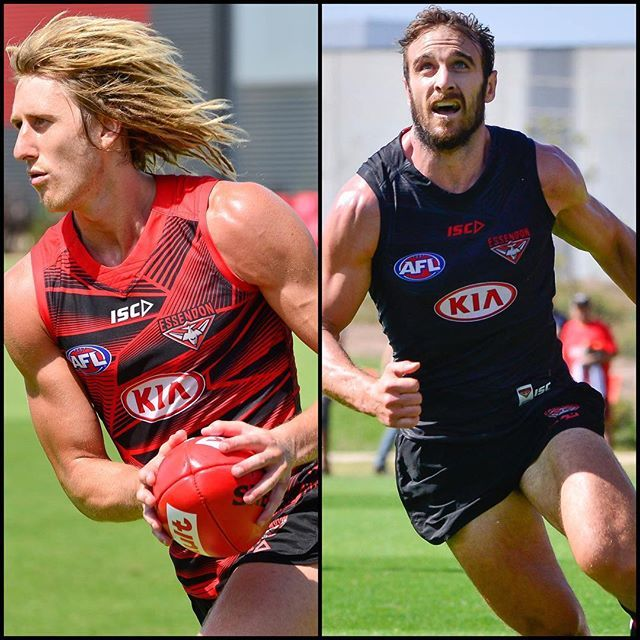 """Captains, my Captains."" Here's hoping you both have a great 2017 football season. The EFC is so fortunate to have a wealth of leaders like yourselves. Congratulations for everything good you both stand for. ⚫❤️ @essendonfc @dysonheppell #jobewatson #donthesash #greatnessinleadership #bleedingredandblack"