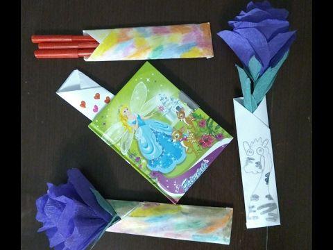 Как сделать для карандашей из бумаги оригами 5