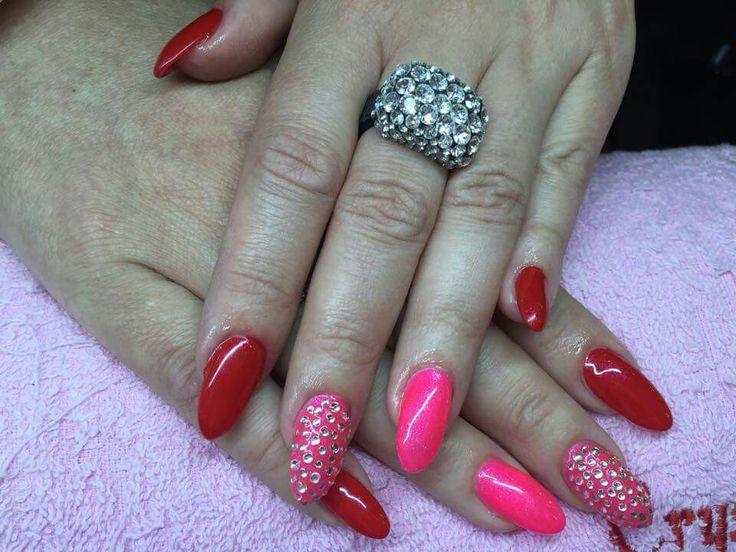 Nail Nails Red Pink