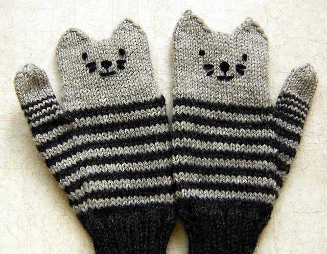Kitten mittens.