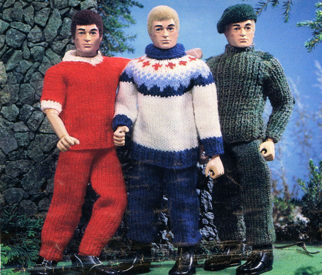 action man knitting pattern......I think my mum actually made one of these jumpers.