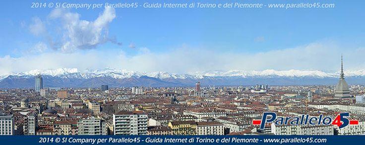 #Panorama dalla terrazza del Museo Nazionale della Montagna di #Torino altre immagini su http://www.parallelo45.com/p45gallery.asp #MoleAntonelliana