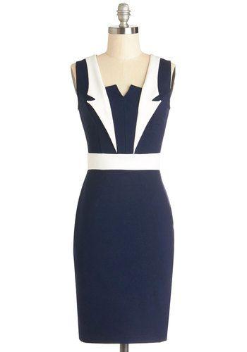 Lapel in Love Dress, #ModCloth