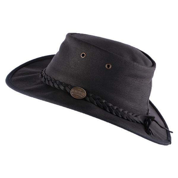 Chapeau Cuir Noir Sundowner Barmah Hats Le Choix Barmah Hat sur Hatshowroom.com #chapeaucuir