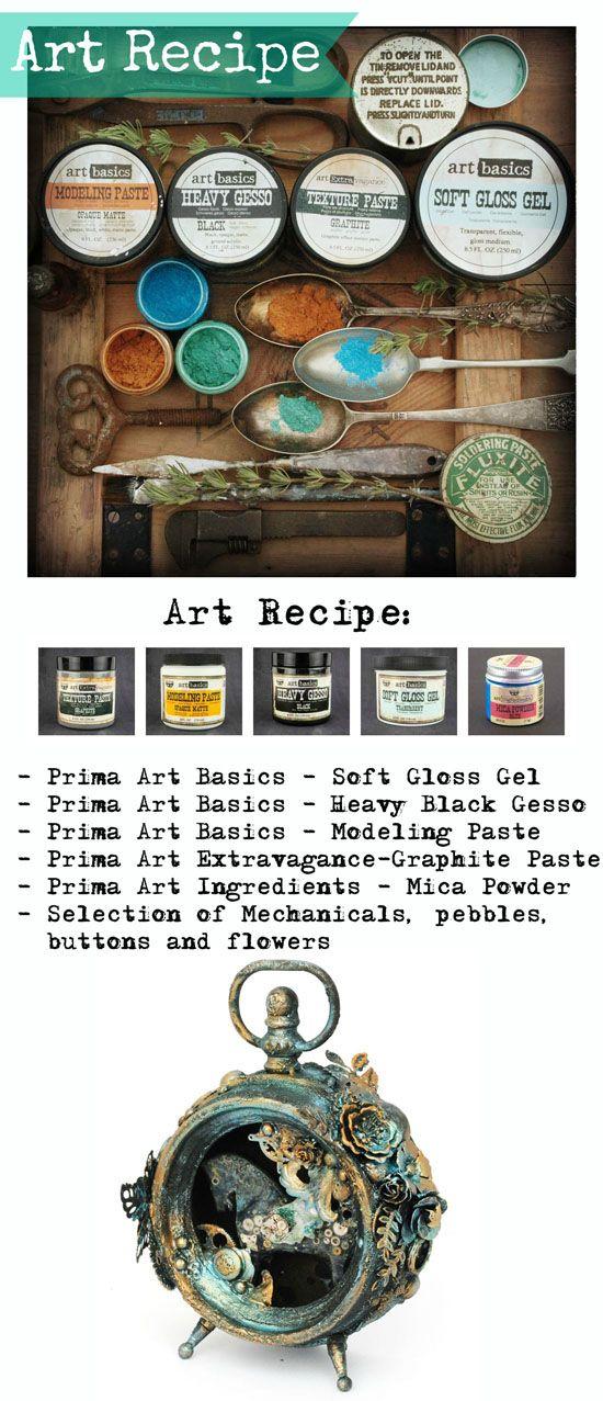 Finnabair: Art Recipe: Timeless Patina (part1)
