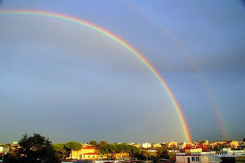 Double rainbow after the storm