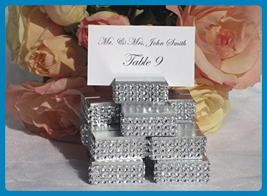 wedding place card holder silver or gold wedding place card holders trimmed with silver crystal