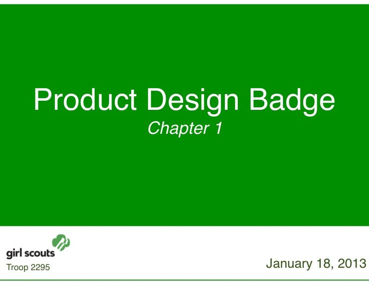 Girl Scouts Product Designer Badge Ideas