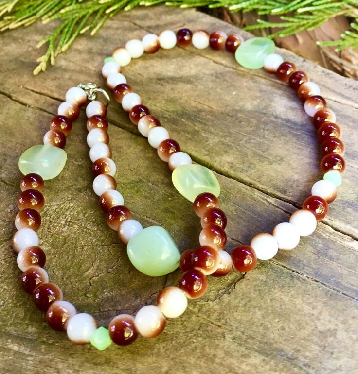 A personal favorite from my Etsy shop https://www.etsy.com/listing/269861841/autumn-jewelry-agate-necklace-clearance