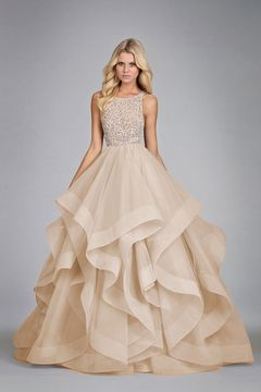 2015 Scoop Ball Gown Tulle Floor Length With Beading US$ 269.99 LDPNSM9P8L - LovingDresses.com