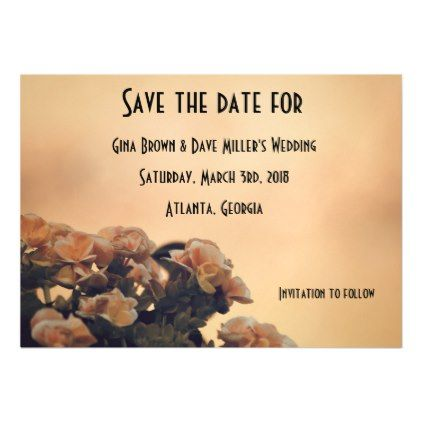 """""""Begonias Save the Date"""" 323 magnet - save the date gifts personalize diy cyo"""