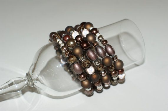 Bracelet spirale marron  bracelet brun par LesBijouxLibellule
